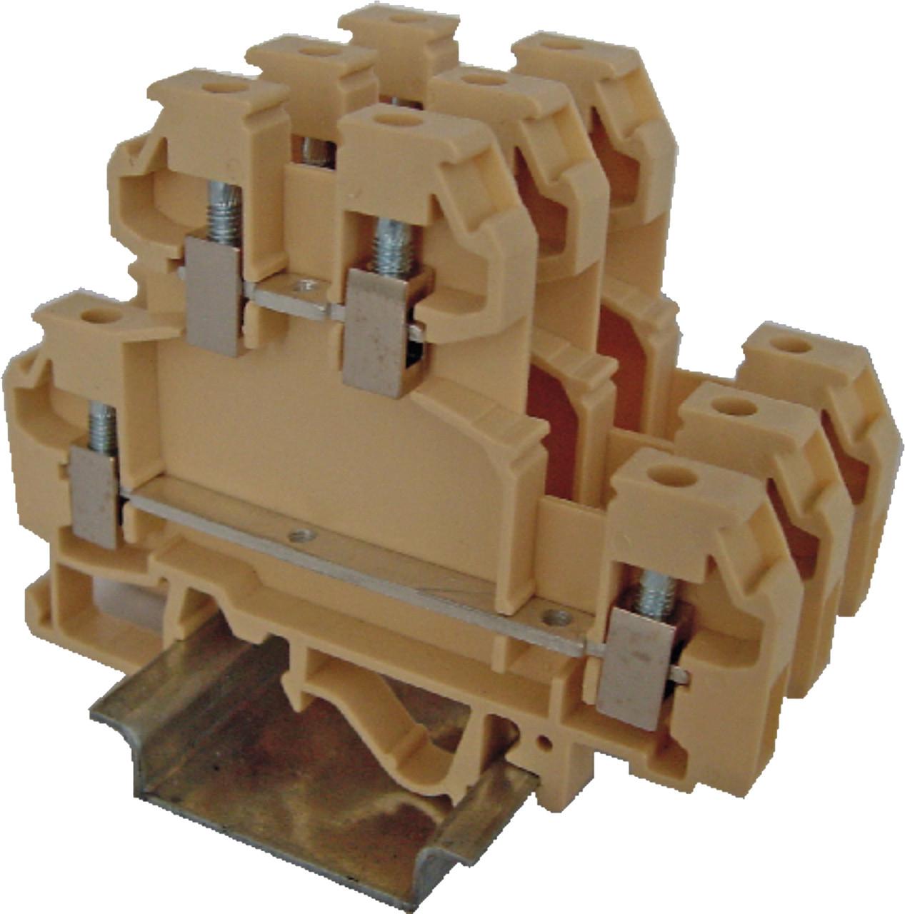 Клема гвинтова-харчування дворівнева VS 2.5 NA + (2,5 мм2_красная), ETI, 3901245