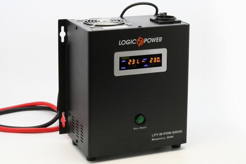 Бесперебойник LogicPower LPY-W-PSW-800VA+ - ИБП (12В, 570Вт) - инвертор с чистой синусоидой