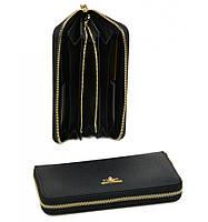 Женский кошелек на молнии черного цвета Bretton