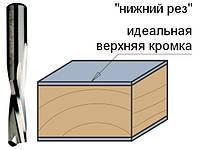 Фреза спиральная твердосплавная нижний рез, D = 10 мм; I = 32 мм; S = 10 мм.