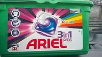 Ariel-гель 3в1 в капсулах для стирки цветного и  белого белья 38шт