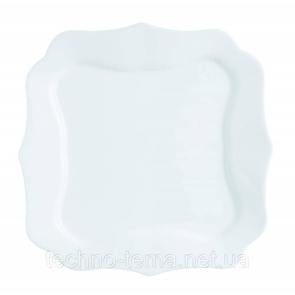 Тарелка обеденная квадратная 26 см Authentic White Luminarc J1300