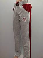 Спортивные женские трикотажные штаны с лампасами батальный размер.