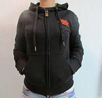 Женская спортивная толстовка Super Dry (286) черная код 769А