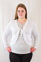 Красивое ажурное болеро венгерский трикотаж большие размеры.