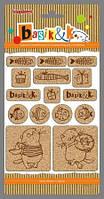 Набор пробковых стикеров Басик-2 SCB341308