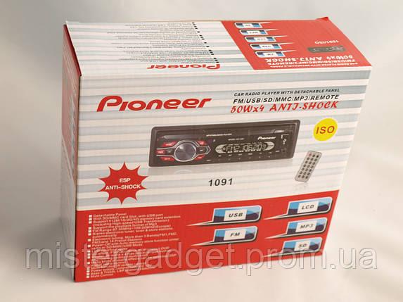 Автомагнитола Pioneer 1091 MP3, USB+MicroSD, AUX, FM, фото 2