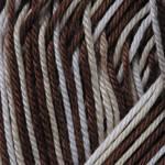 Ярнарт Бегония меланж 50г/169м 3193 бело-коричневый