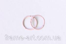 Кольца для альбомов 2 шт розовые 20мм SCB2504420