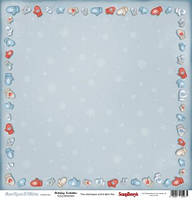 Бумага для скрапбукинга 30,5*30,5 см 180 гр/м двуст. Однажды зимой Зимние забавы