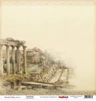 Бумага для скрапбукинга 30,5*30,5 см 180 гр/м двуст. Итальянские каникулы Древний Рим