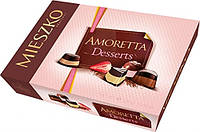 Шоколадные конфеты клубника/шоколад Mieszko Amoretta Desserts в коробке, 324 гр