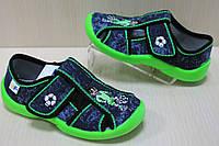 Тапочки в садик на мальчика, польская текстильная обувь тм 3F р. 20,21