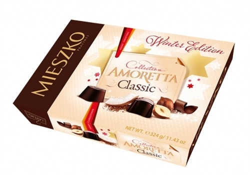 Шоколадные конфеты орех/кокос Mieszko Amoretta Desserts в коробке, 324 гр