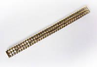 """Браслет """"резинка"""" Nobrand для наручных часов, комбинированный (серебро , золото), 12 мм"""