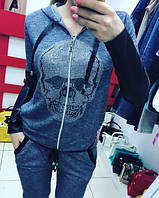 Спортивный костюм Череп / серый