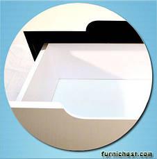 Тумба под раковину для ванной комнаты Симпл-Венге 70-30 (бока венге, вставка венге) с умывальником Комо 70 ПИК, фото 2