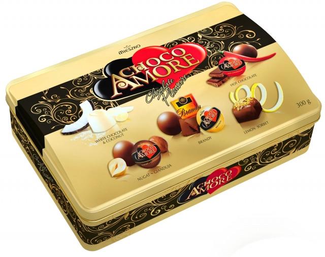 Шоколадные конфеты Mieszko Choco Amore в ж/б коробке, 300 гр