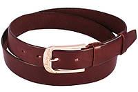 Ремень женский универсальный кожаный коричневый