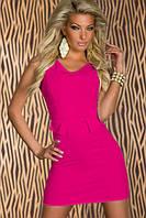 Огромные скидки Платье цвета розы в строгом стиле L2916-2