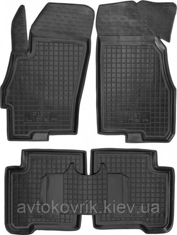 Полиуретановые коврики в салон Fiat Linea 2007- (AVTO-GUMM)