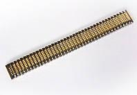"""Браслет """"резинка"""" Nobrand для наручных часов, комбинированный (серебро , золото), 18 мм"""