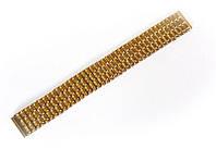 """Браслет """"резинка"""" Nobrand для наручных часов, золотой, 18 мм"""