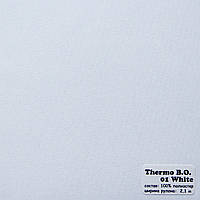 Рулонные шторы Одесса Ткань Термо Блэк-аут Белый