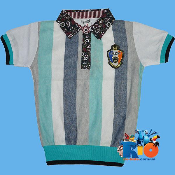 """Летняя футболка - поло """"Takeshy"""" , из трикотажа  , для мальчика (рост 140-152-164-176 см)"""