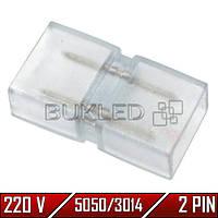 Коннектор для светодиодных лент 5050/3014, 220 В, (2 разъема + 2 pin х 2 шт.)