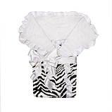 Зебра конверт-одеяло для новорожденного, фото 5