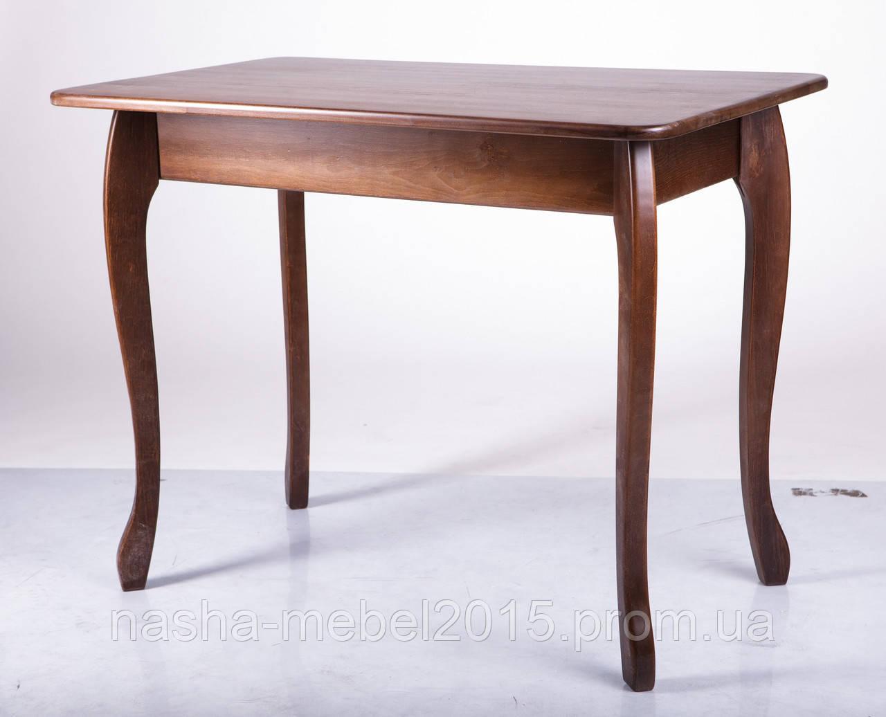 Стол деревянный кухонный Смарт темный орех