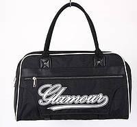 Сумка спортивная Glamour черная 13х25х42х19 BK702-703 /37-4