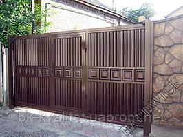 Въездные откатные ворота