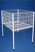Стол презентационный 60х60 см. Сетчатое торговое оборудование.