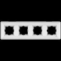 Четверная вертикальная рамка  белая VIKO Meridian (90979004)