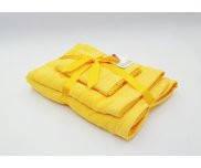 Набор UnderPrice 3 полотенца махровые, желтый, 30х50см, 50х90см, 70х140см хлопок