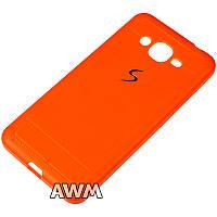 Чехол накладка CREATIVE для Samsung Galaxy Grand Prime G530/G531 оранжевый