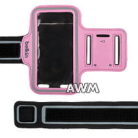 Чехол спортивный Belkin на руку для Apple iPhone 5 / 5S розовый