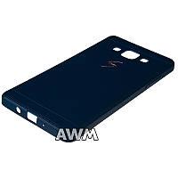 Чехол накладка CREATIVE для Samsung Galaxy A5 (A500H) темно синий