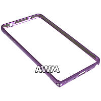 Бампер для Samsung Galaxy Note 4 N910 фиолетовый