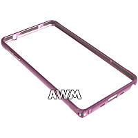 Бампер для Samsung Galaxy Note 4 N910 розовый