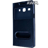 Чехол книжка для Samsung Galaxy Star Advance (G350) с окошком черная