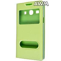 Чехол книжка с окошком для Samsung Galaxy Star Advance (G350) зелёный