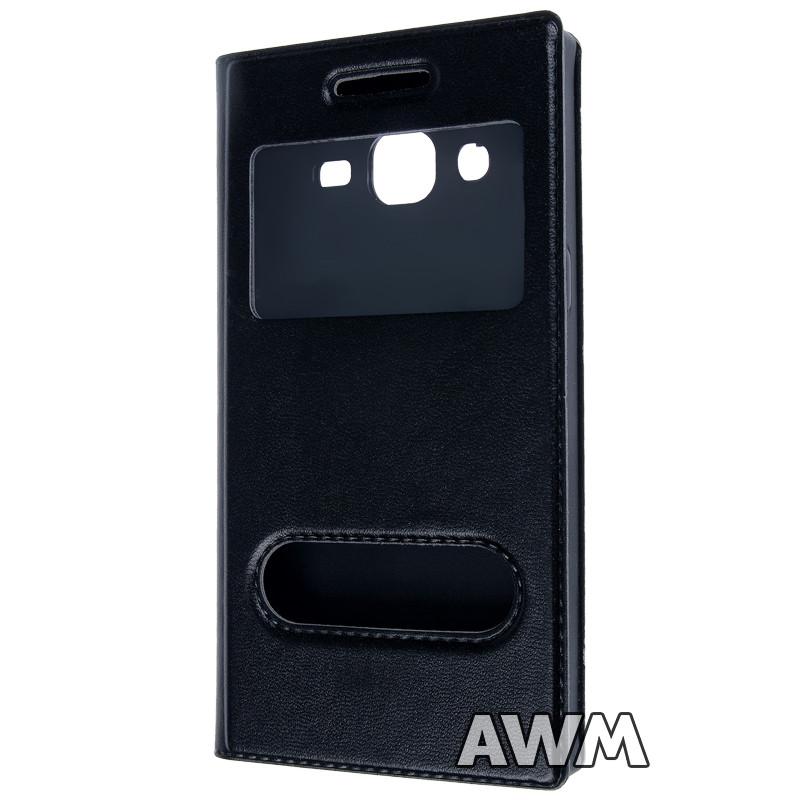 Чехол-книжка FlipCover с окошком Samsung J2 (черный) - AWM в Одессе