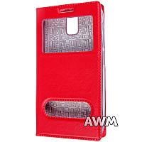 Чехол книжка для Lenovo A328 с окошком красная