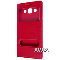 Чехол книжка с окошком для Samsung Galaxy E5 (E500H) красный