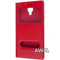 Чехол книжка с окошком для Samsung Galaxy S4 (I9500) красный