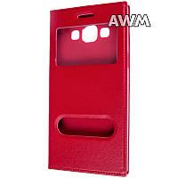 Чехол книжка с окошком для Samsung Galaxy A5 (A500) красный