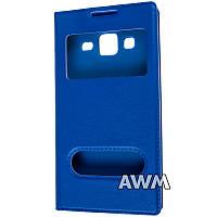 Чехол книжка с окошком для Samsung Galaxy Core Prime (G360) синий